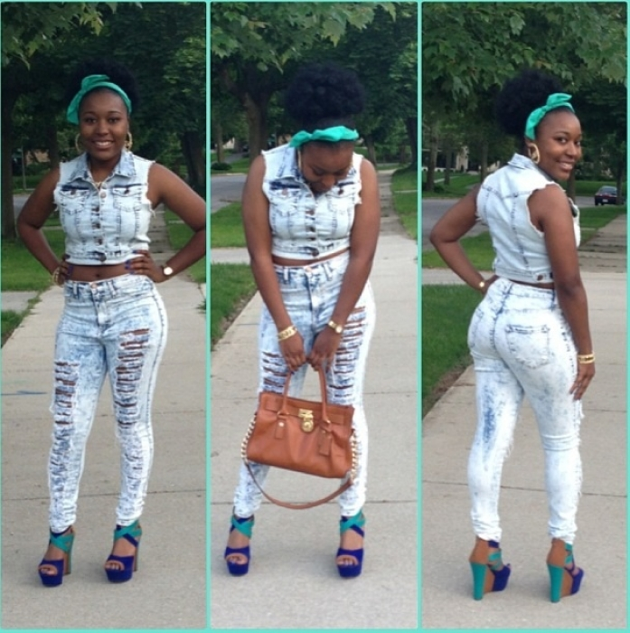 Collection Light Blue Cut Up Jeans Pictures - Get Your Fashion Style
